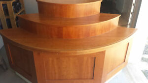 2 sturdy wooden retail display stands