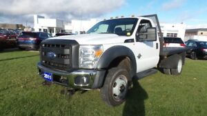 2011 Ford Super Duty F-550 DRW HD CHASSIS 4x4 Diesel  Flat Deck