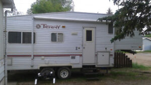 2001 Terry Trailer 24.5 feet with a slide out