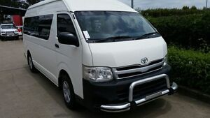 2011 Toyota Hiace KDH223R MY11 Commuter High Roof Super LWB White 4 Speed Automatic Bus Acacia Ridge Brisbane South West Preview