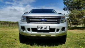 2012 Ford Ranger PX XL Double Cab 4x2 Hi-Rider Highlight Silver 6 Speed Sports Automatic Utility