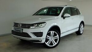 2016 Volkswagen Touareg 7P MY16 V8 TDI Tiptronic 4MOTION R-Line White 8 Speed Sports Automatic Wagon Hobart CBD Hobart City Preview