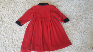 Girl's Size 6 Alfred Sung Red Wool Coat