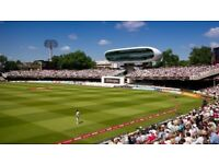 England v Pakistan - Lords - May 24 (Day 1) - 2 x tickets Adult Mound Lower Tier