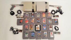 lot de consoles et jeux nintendo NES