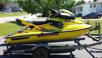 Two 1997 Sea Doo XP 800 and double galvanised trailer