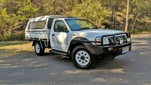 2002 Nissan Navara D22 MY02 DX SINGLE CAB White Manual Cab Chassis Springwood Logan Area Preview