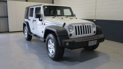 2010 Jeep Wrangler JK MY2010 Unlimited Sport White 6 Speed Manual Softtop Blair Athol Port Adelaide Area Preview