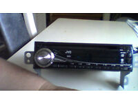 JVC car radio cd mp3 wma player in excellent condition face off for added security