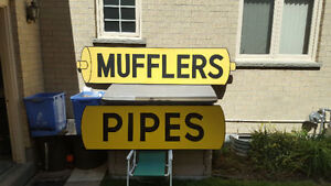 Muffler and Pipes Sign