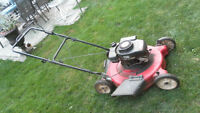 lawnmower gas very good working condition 22 inches wide 3.8 HP