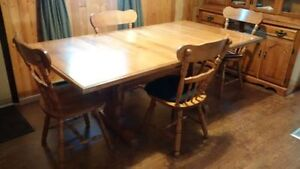 Table and 8 Chairs with Buffet/Hutch