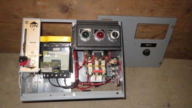 "SQUARE D 12"" MCC BUCKET 7 AMP FHP BREAKER 480 VAC W/ NEMA SIZE 1 STARTER"