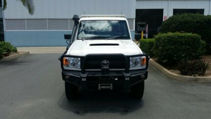 2014 Toyota Landcruiser VDJ79R MY13 Workmate White 5 Speed Manual Cab Chassis Acacia Ridge Brisbane South West Preview