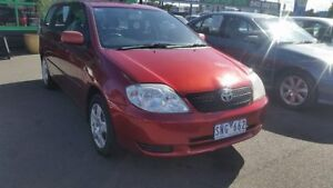 2003 Toyota Corolla ZZE122R Ascent Burgundy 5 Speed Manual Wagon Cheltenham Kingston Area Preview