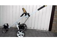 power caddy touch electric gol trolley for spares or repair,requires new controller.