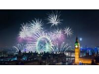 London New Years Eve Fireworks BLUE Zone NYE tickets