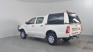 2012 Toyota Hilux KUN26R MY12 SR (4x4) Glacier White 4 Speed Automatic Utility Perth Airport Belmont Area Preview