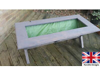 NEW garden planter trough upcycled wooden planters shabby chic