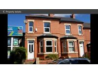 3 bed house, Wrexham town centre. *available mid October