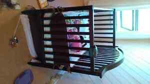 Solid Wood Brown Crib