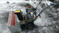 ",Electric start 8Hp 25"" self propelled"