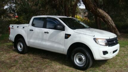 2011 Ford Ranger PX XL Double Cab White 6 Speed Auto Seq Sportshift Utility Oaks Estate Queanbeyan Area Preview