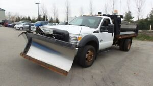2012 Ford Super Duty F-550 DRW XL 4x4 Chassis 6.7Dsl, V Blade Pl