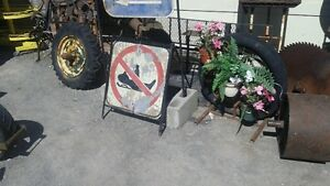LOTS OF SIGNS AND OTHER MAN CAVE DECOR( tractor grills etc) Belleville Belleville Area image 2