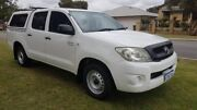 2008 Toyota Hilux GGN15R MY09 SR 4x2 White 5 Speed Automatic Utility Welshpool Canning Area Preview