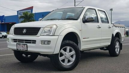 2004 Holden Rodeo RA LT Crew Cab White 5 Speed Manual Utility Bungalow Cairns City Preview