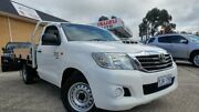 2012 Toyota Hilux KUN16R MY12 SR White 5 Speed Manual Cab Chassis Belconnen Belconnen Area Preview