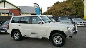 2012 Nissan Patrol GU 7 MY10 ST Pearl White Manual Wagon