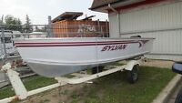 2004 Sylvan Sea Snapper 14 Deep Hull w/ Merc 9.9 & Trailer