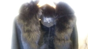 Real Fur Coat With Match Hat