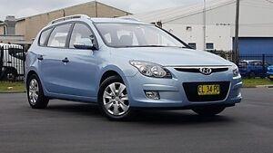 2012 Hyundai i30 FD MY11 SX cw Wagon Blue 6 Speed Manual Wagon Kings Park Blacktown Area Preview