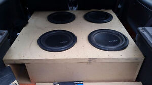 Four 12inch Kaption Audio Subs in box (this week only)