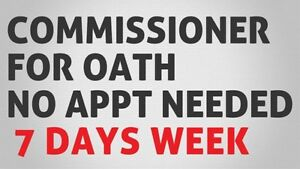 Commissioner for Oaths - Anytime & Anywhere