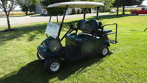 2011 CLUB CAR  GOLF CART W/REAR FLIP SEAT & LIGHTS