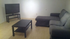 Furnished, newly renovated 1 bdrm suite, lower level. April 1st