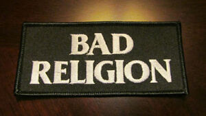 """Bad Religion"" embroidered patch - new / never used - only $3"