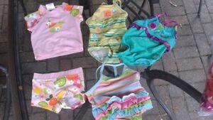 Maillot de bain 0-12 mois fille Casque de bain et souliers d'eau