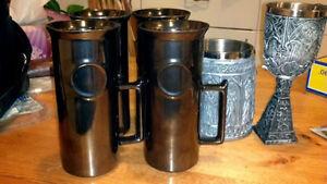 4 Silver Stein Mugs - By Crown Lynn Kitchener / Waterloo Kitchener Area image 1