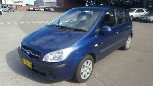 2008 Hyundai Getz TB MY09 SX Blue 5 Speed Manual Hatchback Georgetown Newcastle Area Preview