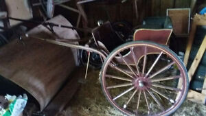 Mennonite-Made Horse Drawn Cart, Solid & Excellent, Sulky, Buggy