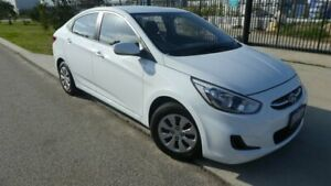 2017 Hyundai Accent RB4 MY17 Active Crystal White 6 Speed Constant Variable Sedan Bassendean Bassendean Area Preview