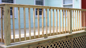 """new 36"""" wood BALUSTERS for deck rail 300 available"""