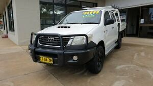 2012 Toyota Hilux KUN26R MY12 SR Double Cab White 5 Speed Manual Utility Macksville Nambucca Area Preview