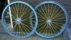 Spinergy Spox wheel set , looks cool,good condition,distinctive and rare.... £75.