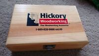 """HICKORY 12 router bits (size 1/4"""")"""